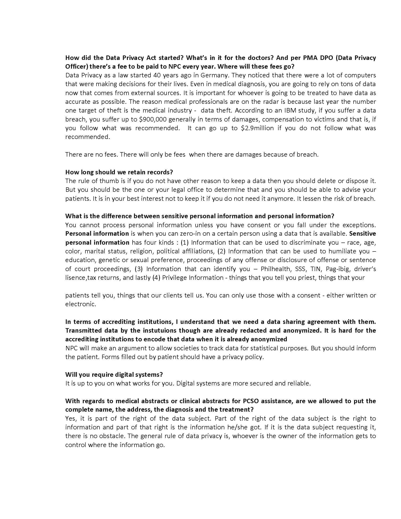 QnA Forum on Data Privacy 1 Page 3