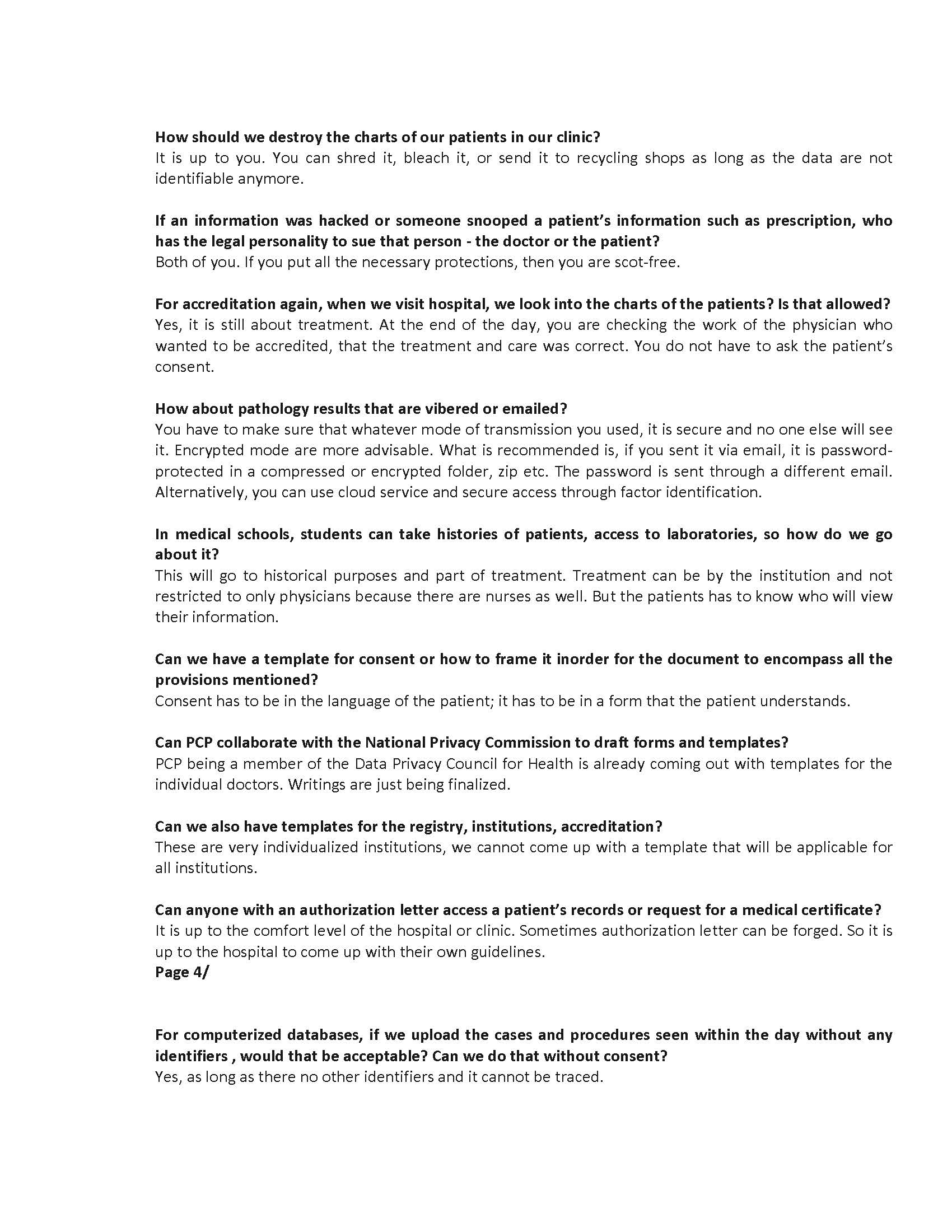 QnA Forum on Data Privacy 1 Page 4