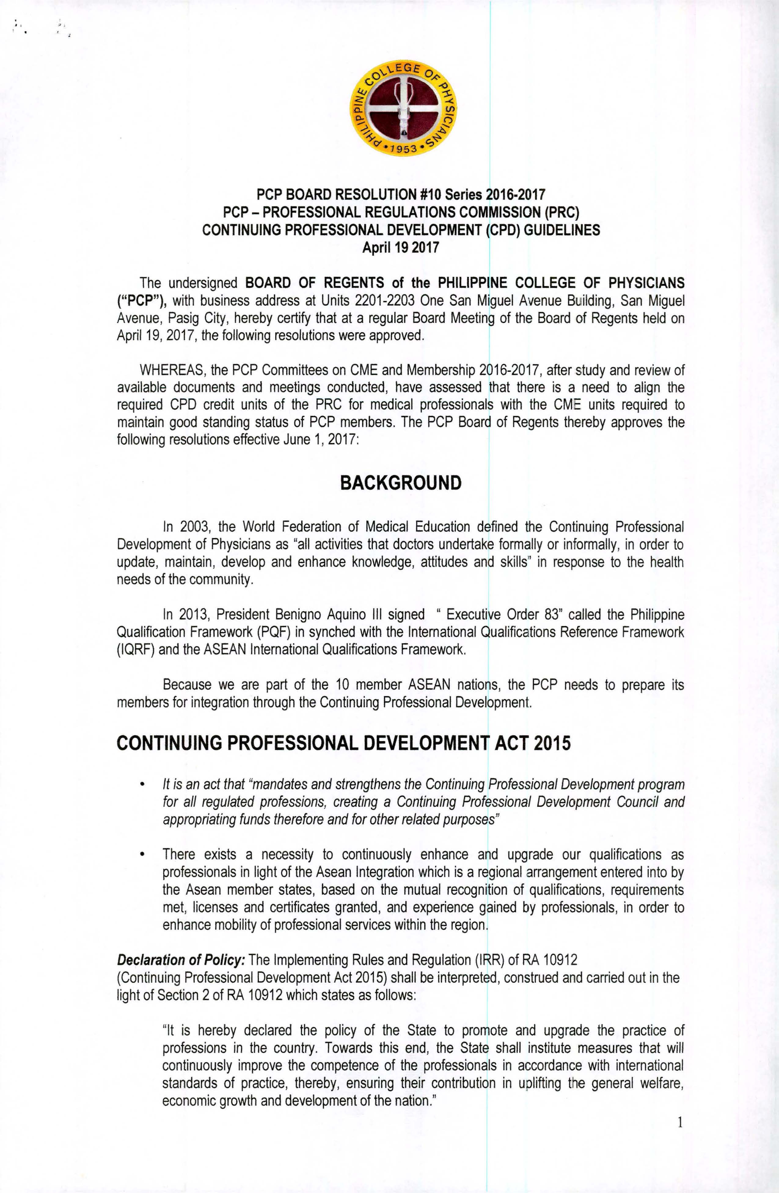 PCP CPD Board Resolution 10 wsignatures Page 1