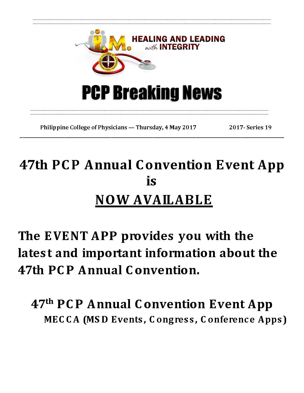PCP Breaking News 47th AC event APP 04252017 Page 1