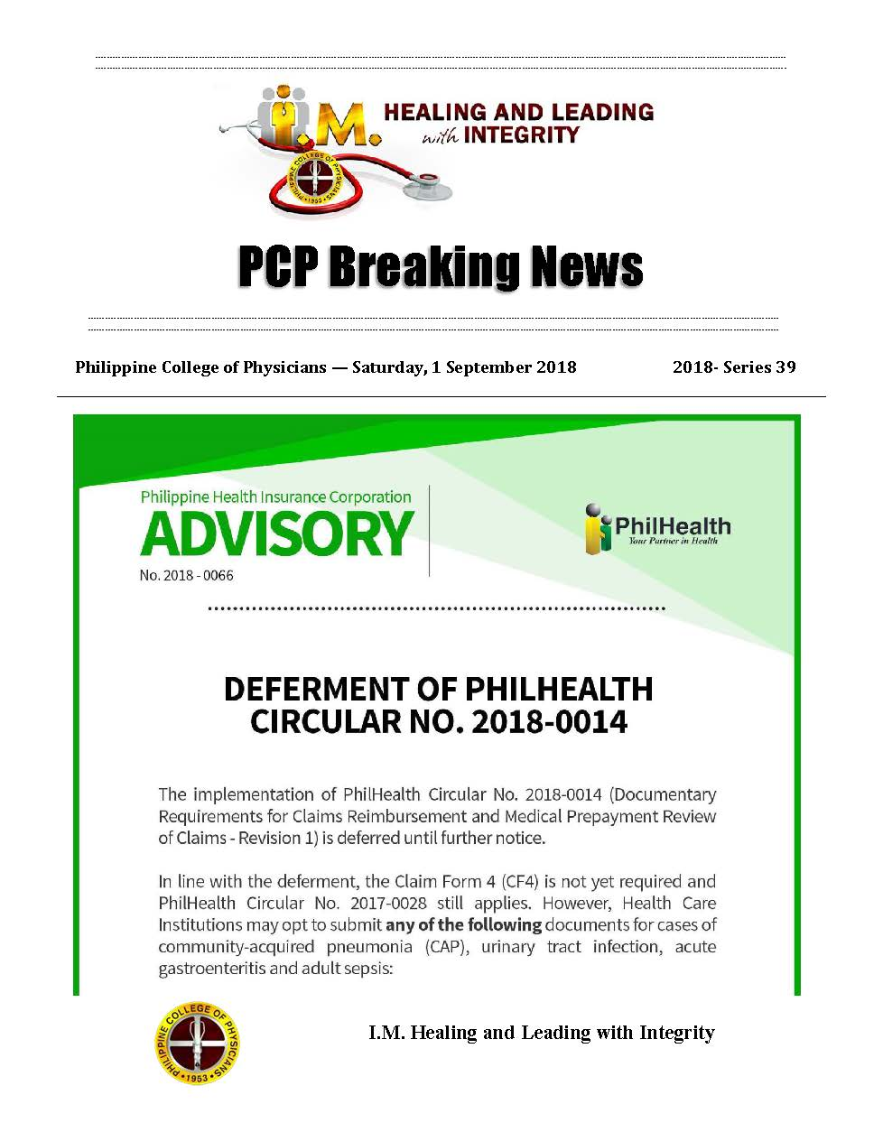 PCP Breaking News 2018 series 39 Page 1