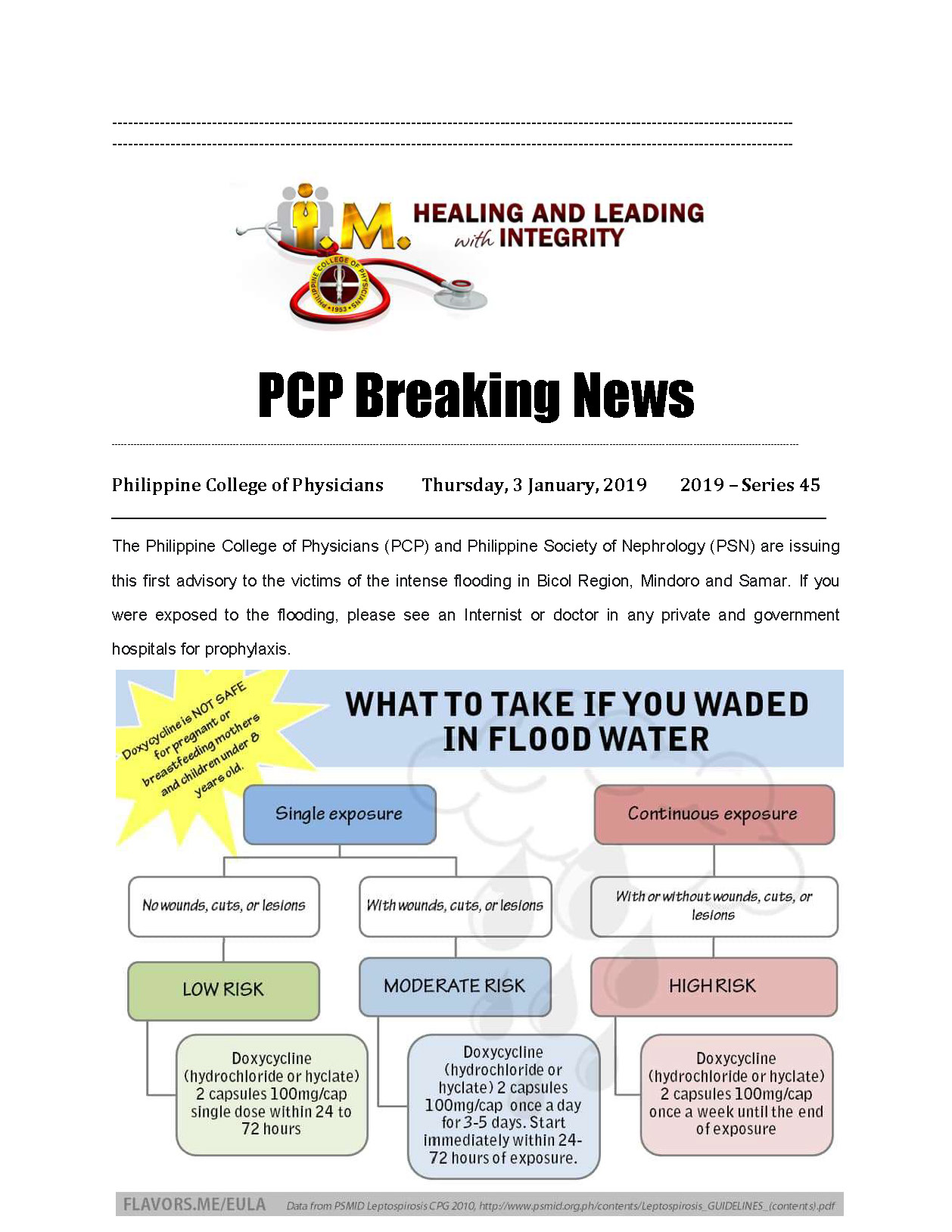45th PCP Breaking News Leptospirosis PCP PSN