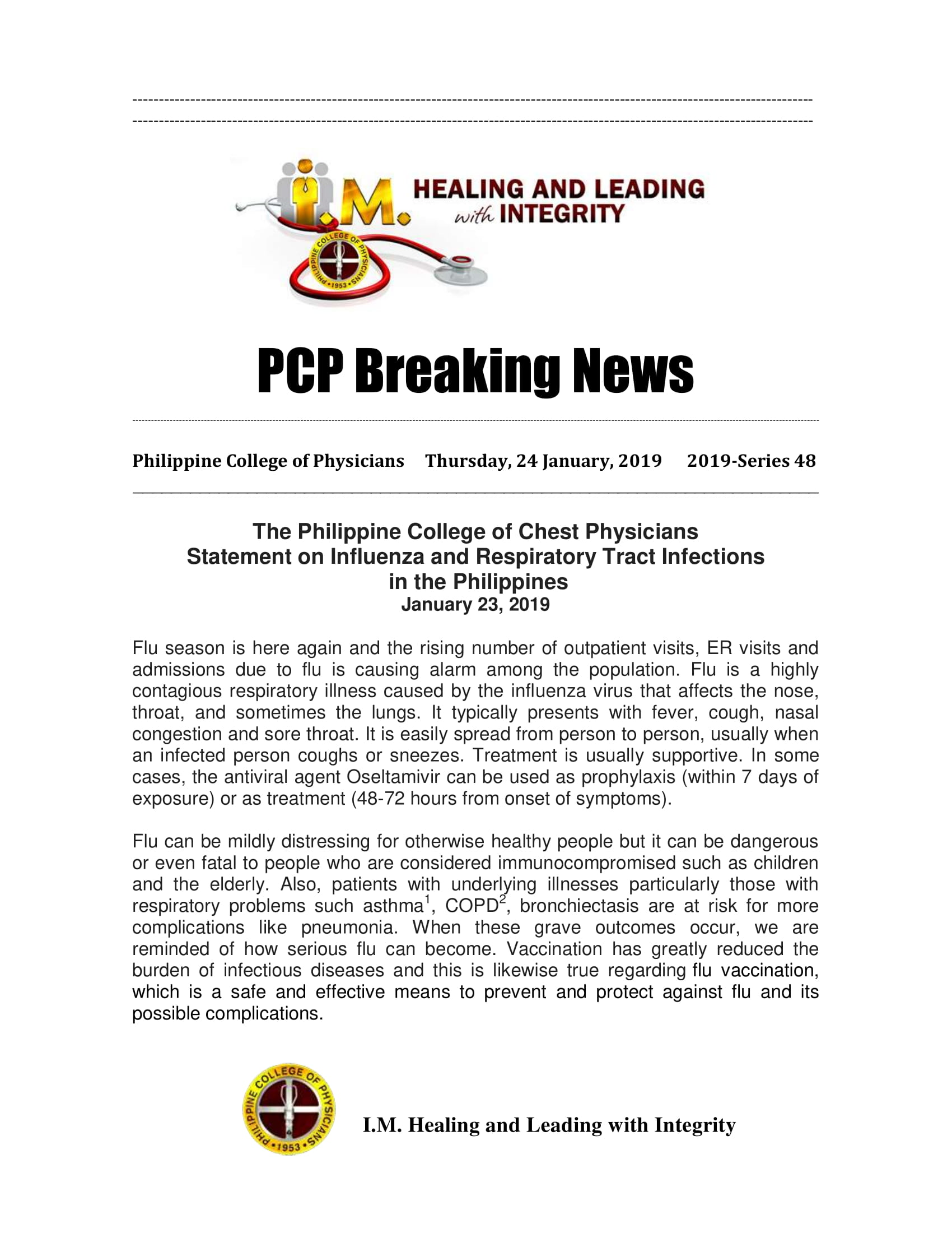 48th_PCP_Breaking_News_PSMID_Statement_On_Flu