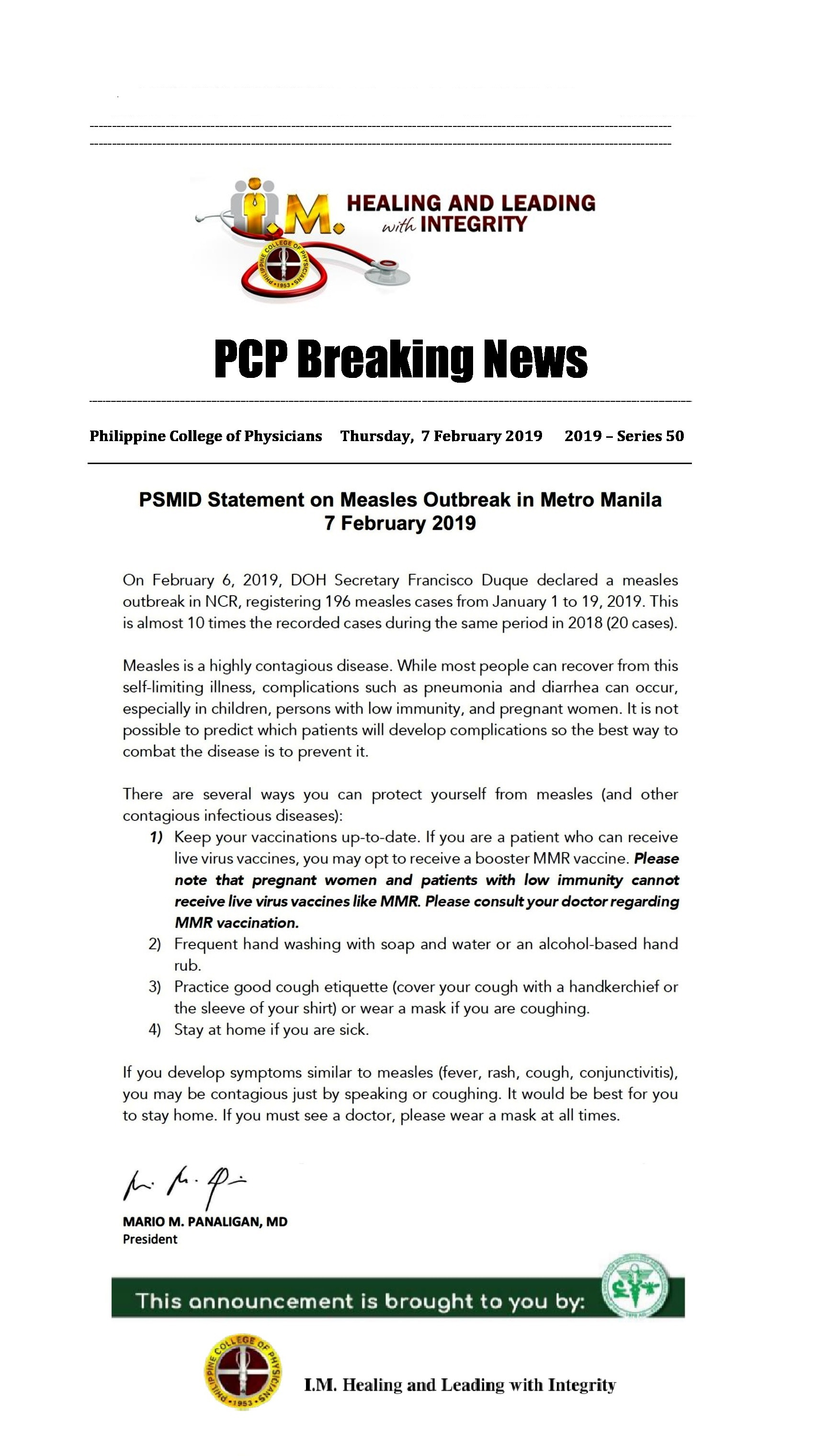 50th_ PCP_ Breaking_ News_Measles_ Outbreak_PSMID